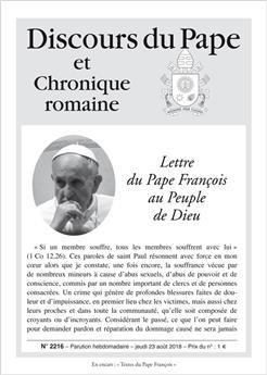 Discours du Pape n°2216 - Lettre du Pape François au Peuple de Dieu