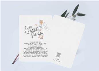 Mini carte « Prière à l'Ange Gardien » Catho Rétro x by • bm