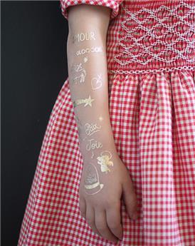 Tatouages Éphémères dorés